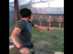 [VIDEO] Jensen Ackles throwing knives at the Renaissance festival.   You can hear Jared and Danneel in the background :D