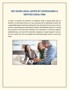 Get Sound Legal Advice By Approaching A Reputed Legal Firm