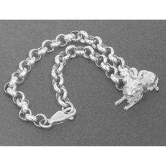 Lion charm bracelet