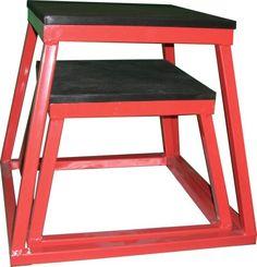 "Plyometric Platform Box Set- 12"", 18"" Red"