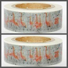 Masking Tape - Masking Tape Washi Tape Flamingos - ein Designerstück von Fitzi-Floet bei DaWanda