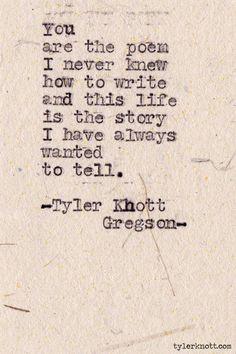 tylerknott:    Typewriter Series #344by Tyler Knott Gregson