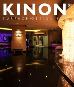 Parx Casino uses Kinon resin surfaces as gorgeous decorative surface material. Kinon is a unique handmade product used by interior designers worldwide for residencies, retail spaces, hotels and more. The Kinon Surface Design website is perfect for finding inspiration and ordering a sample of Kinon. #materials #interiordesign #modern #decorativesurfacematerial