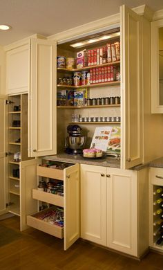 Another baking center design.but Id use a larger surface, a few inches taller, with marble. Kitchen Larder, Kitchen Dinning, Kitchen Redo, Kitchen Cupboards, New Kitchen, Kitchen Storage, Kitchen Remodel, Kitchen Ideas, Kitchen Organizers