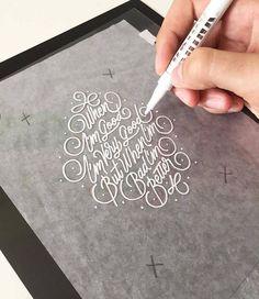 When I'm good, I'm very good. But when I'm bad, I'm better hand lettering. Ricardo Gonzalez