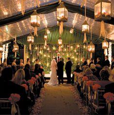 Tented Wedding Ceremony | Weddings Romantique