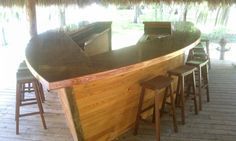 """My husband and friend built this amazing..custom """"boat bar"""".. lots of fun to be had here!"""