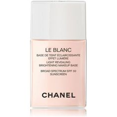 CHANEL LE BLANCLight Revealing Brightening Makeup Base SPF 30 1 oz. found on Polyvore