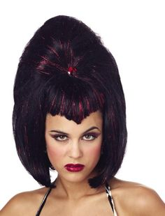 costume accessory wig viva vampira red case of 2 - Red Wigs For Halloween