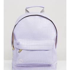 Mi-Pac Exclusive Faux Croc Mini Backpack in Lilac ($50) ❤ liked on Polyvore featuring bags, backpacks, purple, crocs backpack, mi pac backpack, colorblock backpack, checked bag and mini bag