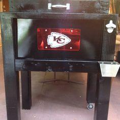 KC Chiefs cooler stand....