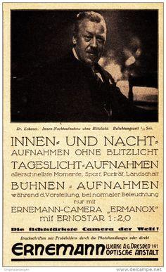 Original-Werbung/ Anzeige 1925 - ERNEMANN CAMERAS - DRESDEN - ca. 90 x 155 mm
