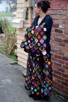 Wallflower crochet pattern by Kraftling
