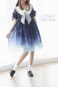 Pretty Rock Baby -Starry Night of The Summer- Sailor Lolita OP Dress