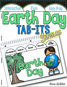 It's Earth Day...HOORAY! Let's celebrate Earth Day! This Earth Day Tab-Its booklet is engaging, fun, rigorous and fits beautifully in your Interactive Notebooks! Each page of this Tab-It Booklet incorporates reading, writing, art, and research skills.