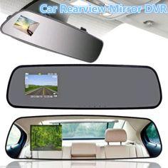 """2.4"""" 720P 120 degree Car DVR Rear View Mirror Monitor Night Vision Backup Camera"""