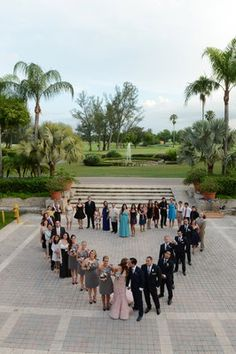 Dramatic, Glamorous, Florida Destination Wedding - Wedding,  Photo,  Outdoors