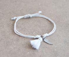Angel wing bracelet inspirational bracelet with tassel charm