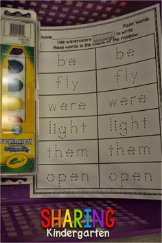 Might be kind of messy - but could be really engaging! Watercolor sight words!