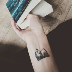 Small Book Tattoo on Wrist