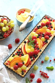 Fruit Tart, Tart Recipes, Waffles, Food And Drink, Sweets, Cream, Baking, Breakfast, Desserts