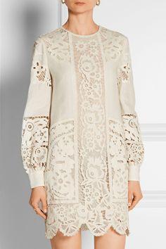 Valentino   Mini-robe en broderie anglaise de lin   NET-A-PORTER.COM
