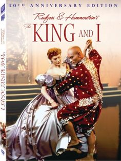 """Anna (Deborah Kerr) and King Mongkut (Yul Brynner) in """"The King and I"""". When I was a little girl I fell in love with Yul Brynner after seeing this, and I never fell out of love with him. See Movie, Movie Tv, Epic Movie, Old Movies, Great Movies, Hollywood, Yul Brynner, The Blues Brothers, Bon Film"""