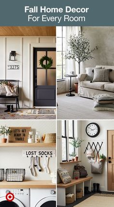 From your front door and entryway to your laundry room and living room, bring in warm inviting fall updates to your home. My Living Room, Interior Design Living Room, Living Room Furniture, Living Room Decor, Bedroom Decor, Bedroom Ideas, Fall Home Decor, Autumn Home, Diy Home Decor