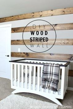 DIY Farmhouse Style Decor Ideas - DIY Wood Striped Wall - Rustic Ideas for Furniture, Paint Colors, Farm House Decoration for Living Room, Kitchen and Bedroom http://diyjoy.com/diy-farmhouse-decor-ideas