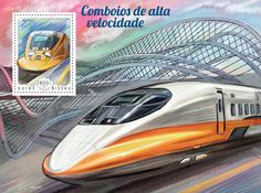 Post stamp Guinea-Bissau GB 14703 b	Speed trains  (700T TR31)