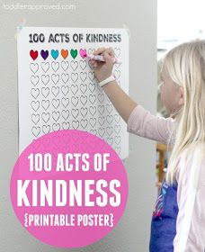 Toddler Approved!: 100 Acts of Kindness Free Printable Countdown Poster