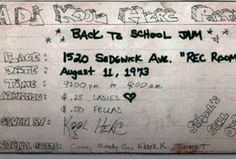 Salute to Kool Herc for having the vision...