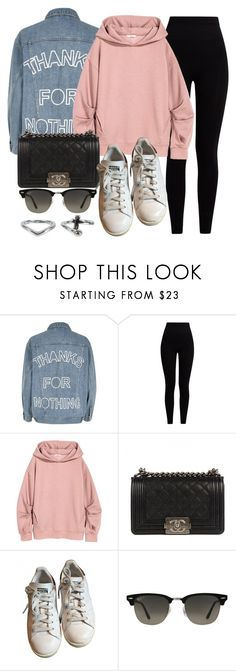 """Sin título #11975"" by vany-alvarado ❤ liked on Polyvore featuring River Island, Pepper & Mayne, Chanel, adidas, Ray-Ban and NLY Accessories"
