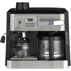 DeLonghi® Combi 10 Cup Coffee Maker-4 Cup Espresso Maker in Espresso Makers | Crate and Barrel