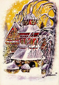 Mirja Vänni Christmas Cards, Snoopy, Album, Winter, Prints, Fictional Characters, Art, Picasa, Christmas E Cards