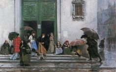 Raimundo de Madrazo y Garreta 1841-1920 coming out of church