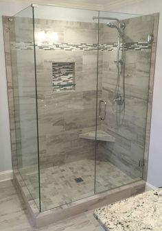 ✔ top 45 best modern bathroom with wall mounted ideas in 2019 41 Bathroom Shower Panels, Glass Shower Doors, Bathroom Showers, Corner Shower Doors, Tile Bathrooms, Tile Showers, Glass Showers, Luxury Bathrooms, Dream Bathrooms