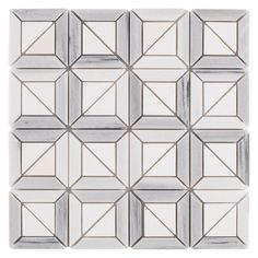 Framed Thassos Marble Mosaic - 12in. x 12in. - 100139096 | Floor and Decor