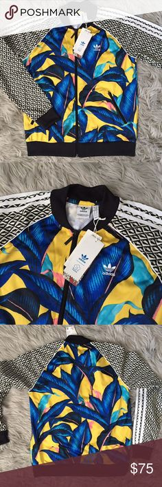 576be66a286ca Adidas Original Farm Big Leaf Track Jacket all star track suit jacket super  wavy color way