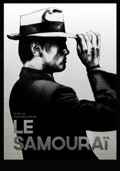 A poster design of one of my favourite films: Le Samourai with Alain delon and also a chance to explore the balance between a striking image and quick turnaround in. Classic Movie Posters, Minimal Movie Posters, Cinema Posters, Attentat Paris, Unique Poster, Alain Delon, About Time Movie, Illustrations Posters, Quotations
