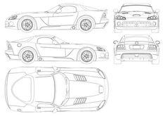 Dodge Viper SRT10 blueprint