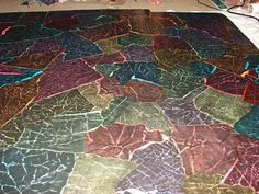 Colored Paper Floor.....really like this one