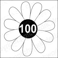 Daisy100 Rubber Stamp