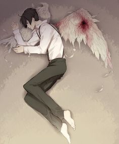 Was a nice dedicated angel who was doing his job (like Electra has instructed him to) when he was suddenly shot in his wing and lost the ability to return (ill and injured).  He's now stuck in the cellar of his shooter's gang headquarters.