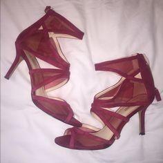 Nine West Maroon Heels super cute 3 inch reddish/maroon heels. worn one time to a wedding & I comfortably danced the night away!! Nine West Shoes Heels