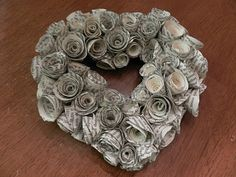 Be Book Bound: Day 5: Quilling Your Heart Out. Rolled Flower Heart Wreath