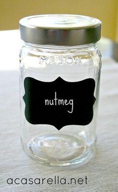 mason jar spice jar, chalkboard paint, crafts, mason jars, repurposing upcycling, becomes and adorable spice jar