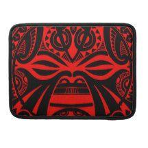 Polynesian tiki mask tattoo totem face sleeve for MacBook pro