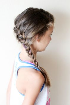 Little girl's hairstyles the Elsa braid