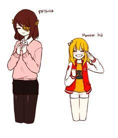 플펠프리랑 몬키(의인화)한테 내가 입는 옷스타일… 나랑 플펠프리/몬키 잘 어울린다 하길래(ㅋㅋㅋ FF!frisk, Monster kid(human ver.) + my fashion :3c